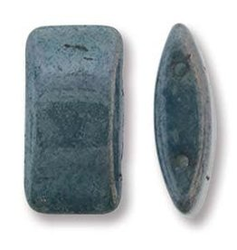 15 PC 9x17mm 2 Hole Carrier Bead : Blue Luster
