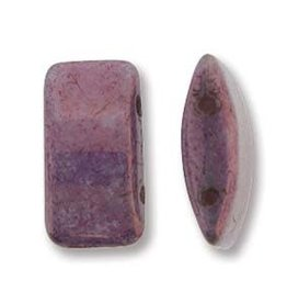 15 PC 9x17mm 2 Hole Carrier Bead : Purple Vega