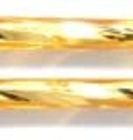13 GM 30mm Czech Twisted Bugle Bead : Light Topaz