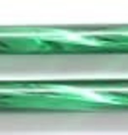 13 GM 30mm Czech Twisted Bugle Bead : Christmas Green