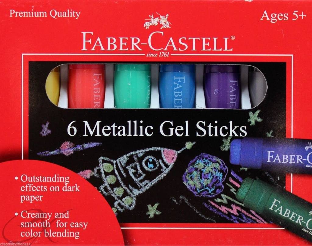 Metallic Gel Sticks - 6ct