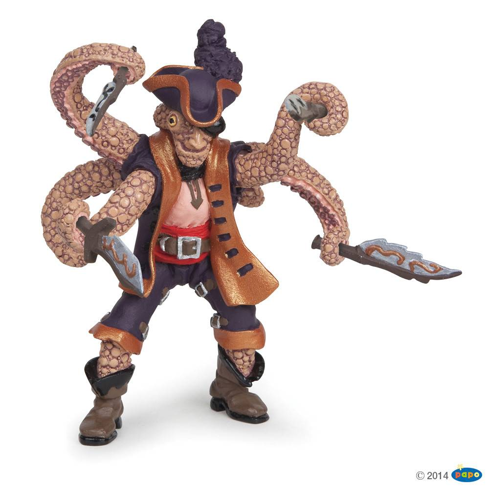 Papo Octopus Mutant Pirate