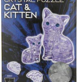 Original 3D Crystal Puzzle - Cat & Kitten