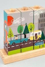 Wooden Cube Puzzle Transportation