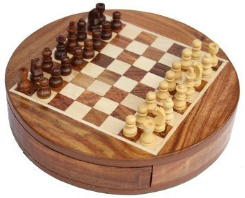 Round Magnetic Chess Set