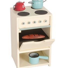 White Stove with Utensils