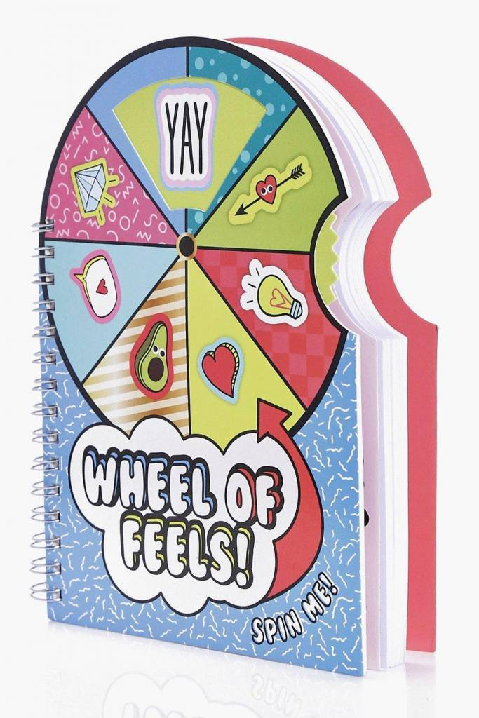 Vibe Squad Wheel of Feels Spinning Notebook