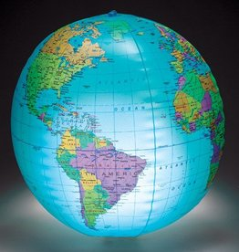 Inflatable Globe With Light - 12""
