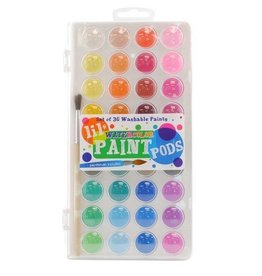 Lil' Watercolor Paint Pods - Set of 36 + Brush