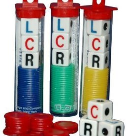 LCR Left Center Right Dice Game - Asst.colors