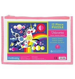 Puzzle Pouch - Unicorns 12 pc