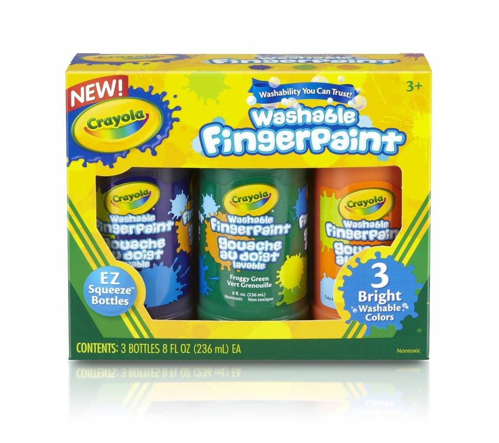 Crayola Washable Finger Paint 3 Count