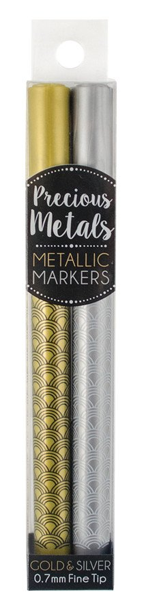 Precious Metals Fine Tip Markers - Set of 2