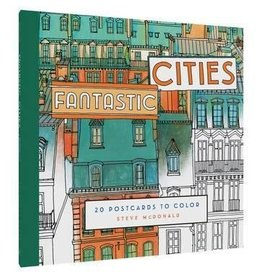 Fantastic Cities -  Post Cards to color