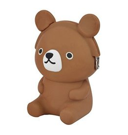 3D Pochi Friends Coin Purse Bear - Brown