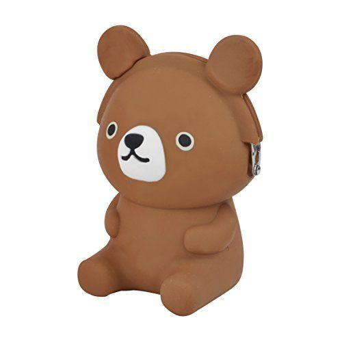 3D Pochi Friends Coin Purse Bear - Brown