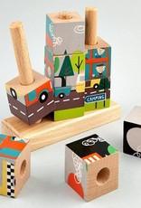 Magnetic Wooden Transit Puzzle