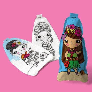 3D Colorables - World Peace Dolls