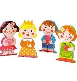 Janod Funny Magnet Dolls