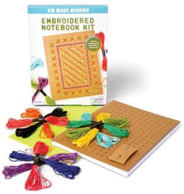 kid made modern Embroidered Notebook Kit