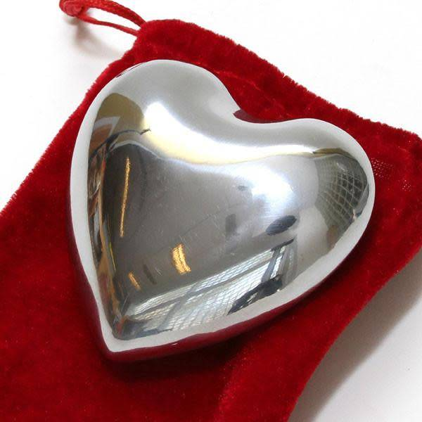 Tesoros Trading Company Tesoros Nickel Heart with Bell - Large