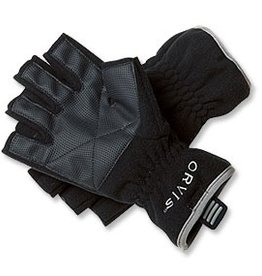 FLEECE FINGERLESS GLOVES BLACK L