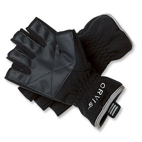FLEECE FINGERLESS GLOVES BLACK XL
