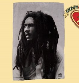 BOB MARLEY BLACK & WHITE PORTRAIT FABRIC POSTER