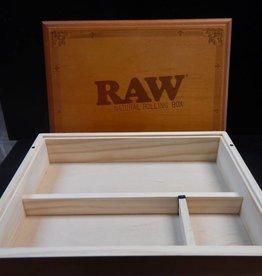 RAW Wood Box w. Rolling Lid
