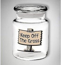 Keep Off the Grass Glass Jar