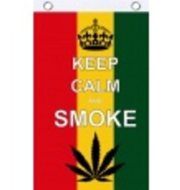 "Flag ""Keep Calm & Smoke"" - 3'x5'"
