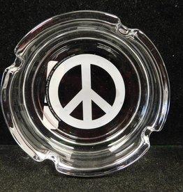 Peace Sign - Glass Ashtray