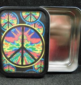 Large Stash Tin - Psychedelic Peace