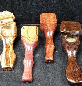 Wood Handpipe w. Lid - MI - Large