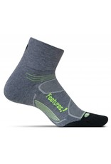 Feetures! Light Cushion Quarter Charcoal S/M
