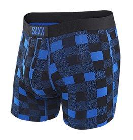 Saxx Underwear SAXX Vibe Boxer Blue Lumberjack S