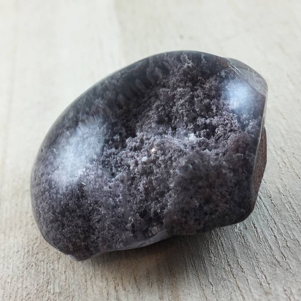Lodolite Bubble, 40mm- Lavender Grey Clouds