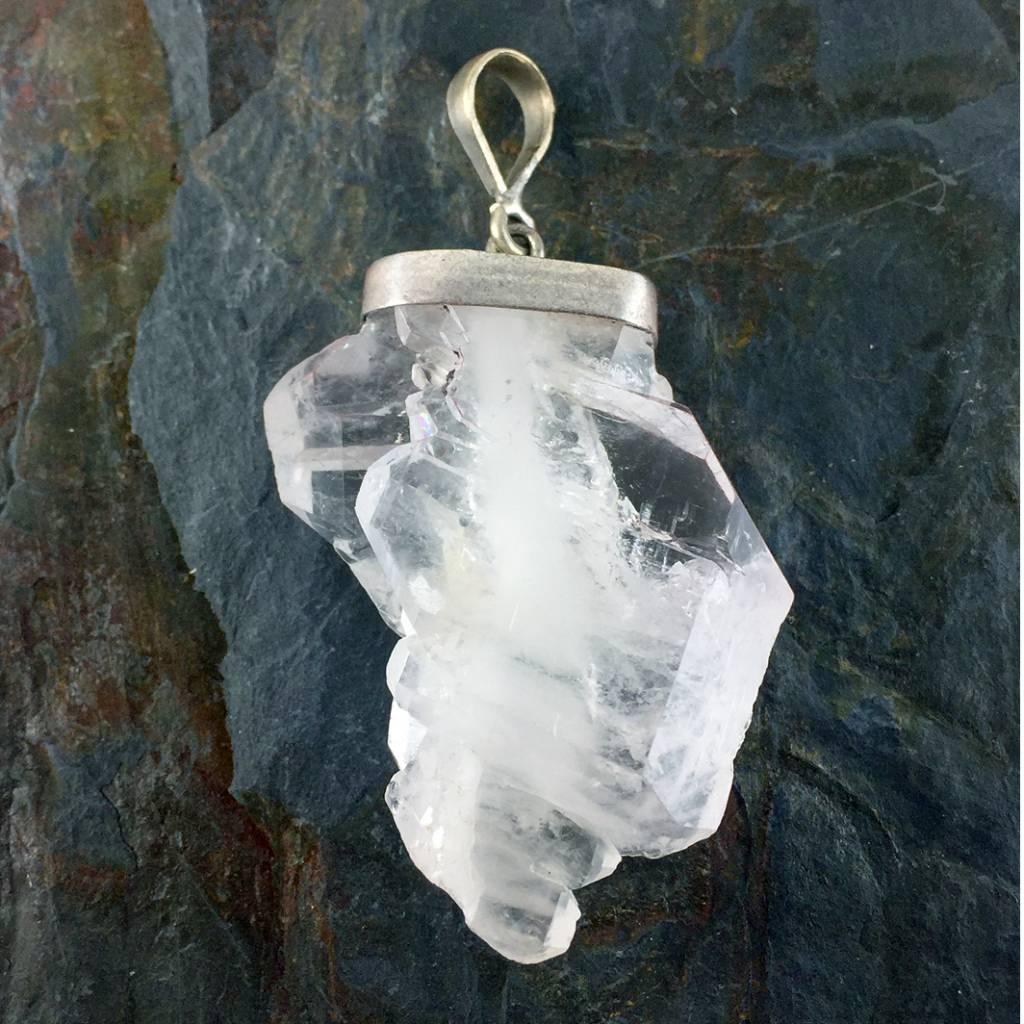 Faden quartz pendant s s tws faden quartz rough asymmetrical pendant mozeypictures Choice Image