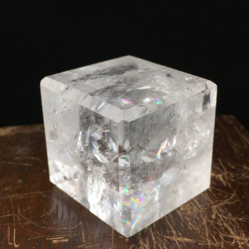 Quartz Crystal Polished 35mm Cube
