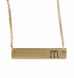 mud pie Initial Bar Necklace