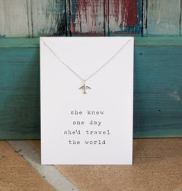 declaration and company Airplane Sentiment Necklace
