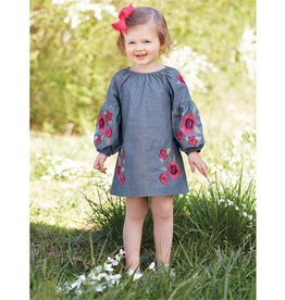 Mudpie Floral Embroidered Dress
