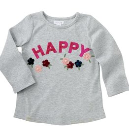 mud pie 'Happy' Floral Tee