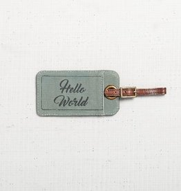 Mona B LLC Hello World Luggage Tag