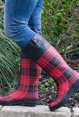 giftcraft inc Buffalo Plaid Rainboots