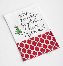 deck the halls yall I Have Nana! Tea Towel