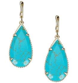 Natalie Wood Designs Teardrop Earrings - Turquoise Magnesite