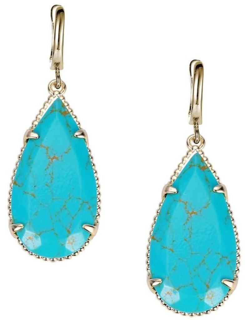 Natalie Wood Designs Teardrop Earrings Turquoise Magnesite