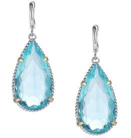Natalie Wood Designs Teardrop Earrings - Blue Topaz