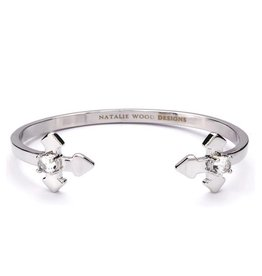 Natalie Wood Designs Believer Cross Cuff Bracelet - Silver